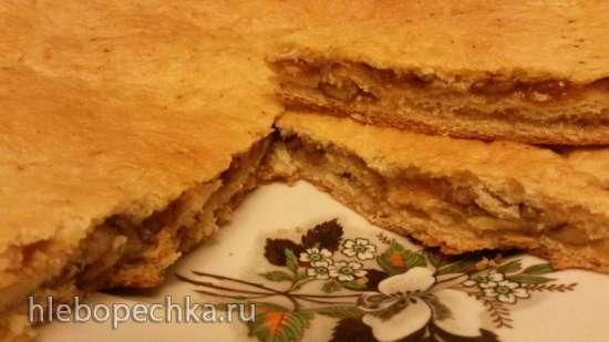 Песочно-дрожжевое тесто на растительном масле для сладких рулетов и пирогов