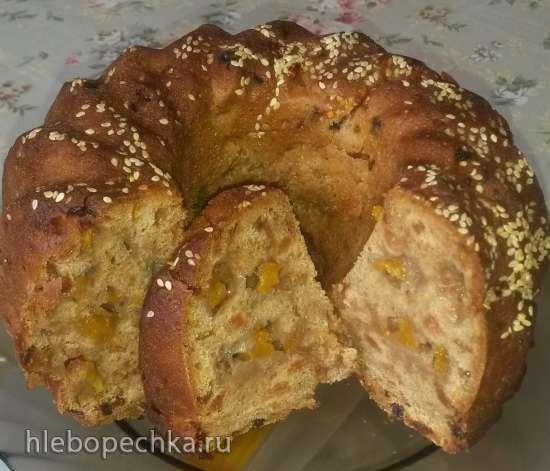 Необычный пирог с тыквой