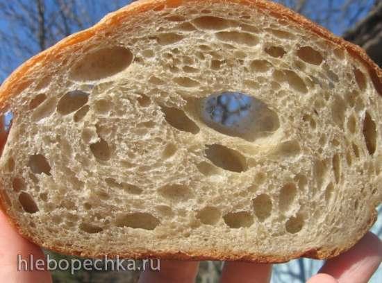 Хлеб с цельнозерновой мукой на жидких банановых дрожжах