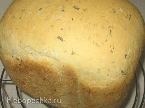Огуречный хлеб с сыром и укропом