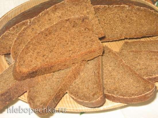Ржано-пшеничный заварной хлеб на жидких дрожжах