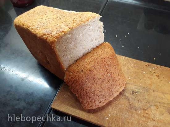 Пшеничный хлеб с ячменной крупкой и творогом