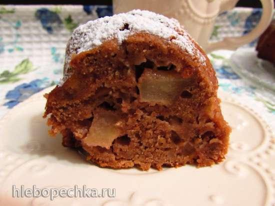 Марципановый кекс с яблоками и орехами