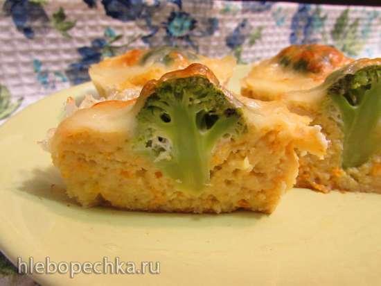 Рыбные нежные кексы с брокколи и моцареллой