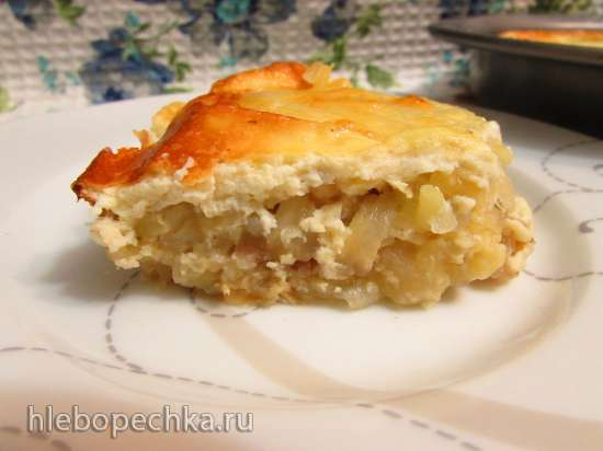 Картофель, запечённый в яично-сметанной заливке с моцареллой