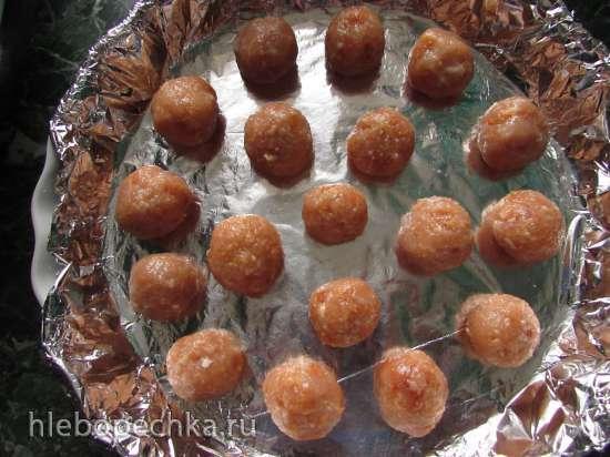 Куриные мини-шарики, запечённые в кисло-сладком соусе