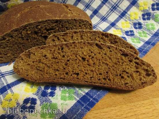 Исландский чёрный хлеб ругбрёйз (без дрожжей)