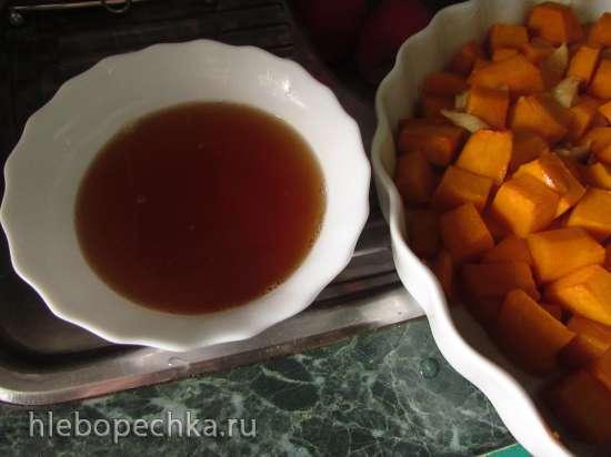 Запечённая карамельная тыква с лимоном (плюс вкусный сироп)