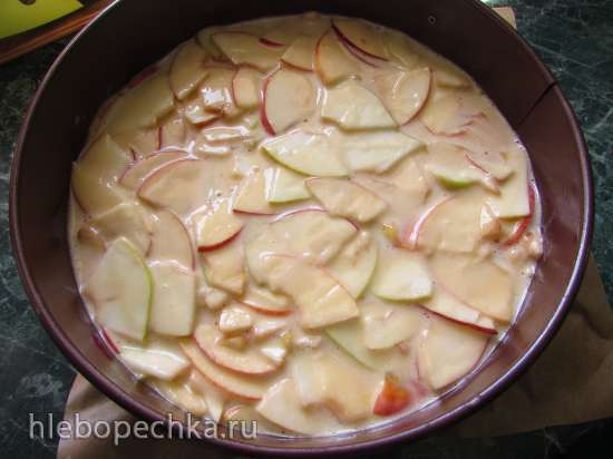 Яблочный пудинговый пирог