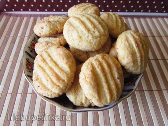 Быстрое творожно-ванильное печенье без яиц с сухим пудингом