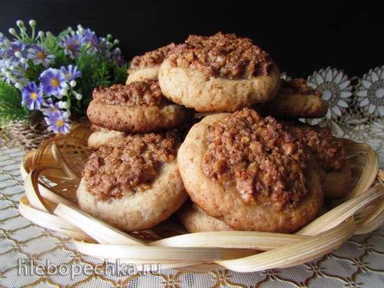 Творожное печенье с ореховой начинкой