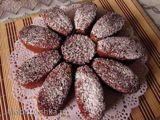 Шоколадно-кофейные кексы с бананом
