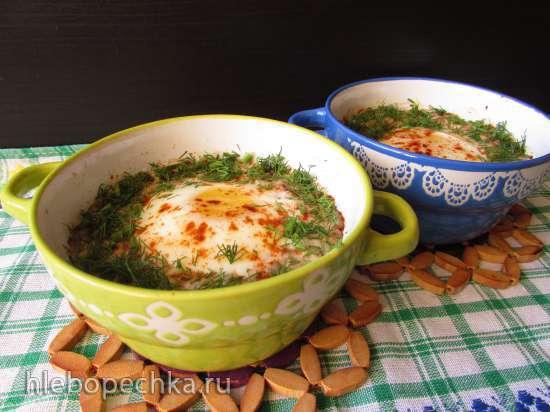 Курино-гречневые порционные запеканки с яйцом