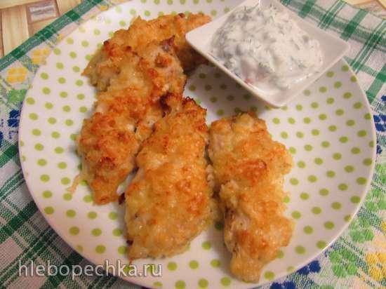 Курица в сырно-чипсовой панировке