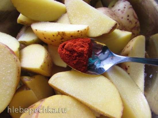 Золотистый картофель, запечённый в букете специй
