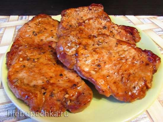 Сочные свиные стейки из корейки (без отбивания, в духовке)