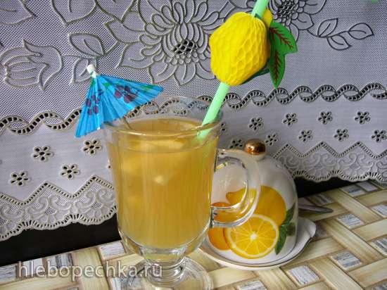 Напиток из фиников с лимоном и мёдом