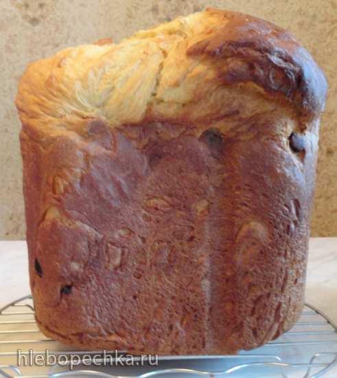 Кулич «Королевский лентяй» в хлебопечке