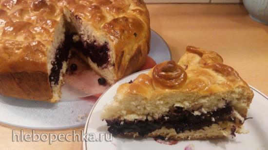 Пирог с черникой и корицей