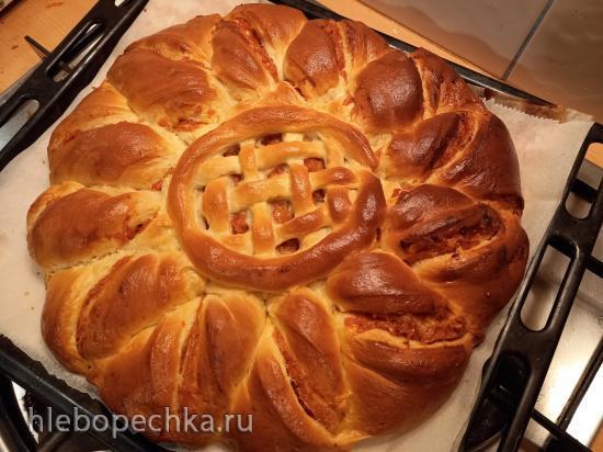 Пирог дрожжевой «Рождественское солнце»