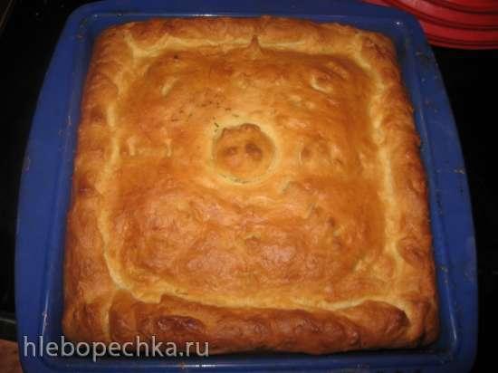 Пирог мясной вкусный