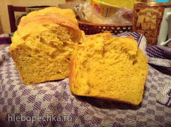 Тыквенный пшеничный хлеб в хлебопечке