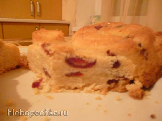 Коврижка с клюквой и белым шоколадом (Cranberry & White Chocolate Shortbread Cookies)