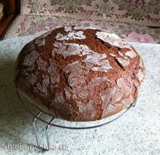 Хлеб Домашний ржано-пшеничный на закваске (духовка)