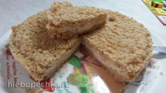 Рассыпчатый пирог с творожно-грушевой начинкой (Panasonic SR-TMH 10)