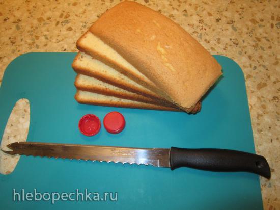 Как я нарезаю тончайшие бисквитные коржи