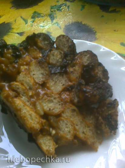 Торт без выпечки Лапушка из кукурузных палочек