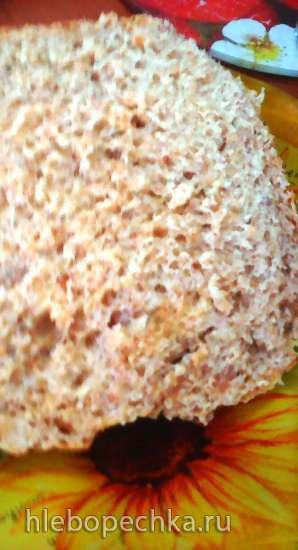 Хлеб с гречневой крупой на консервированных помидорах