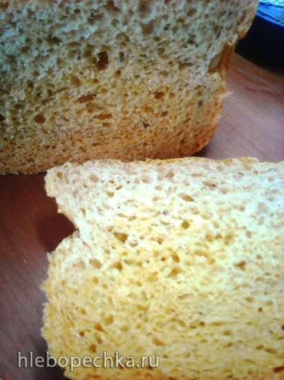 Простой маленький хлеб на консервированном помидоре
