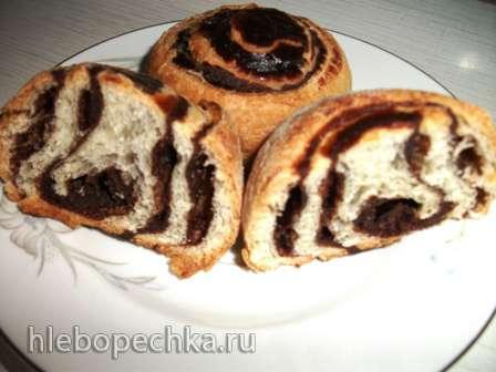 Булочки с шоколадной начинкой (постные)