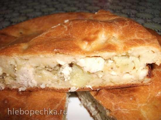 Маринкины творинки заливной пирог