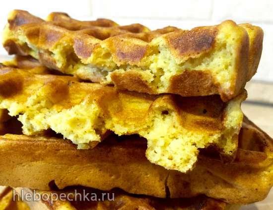 Вафли постные с измельченным орехом (вариант №2 )