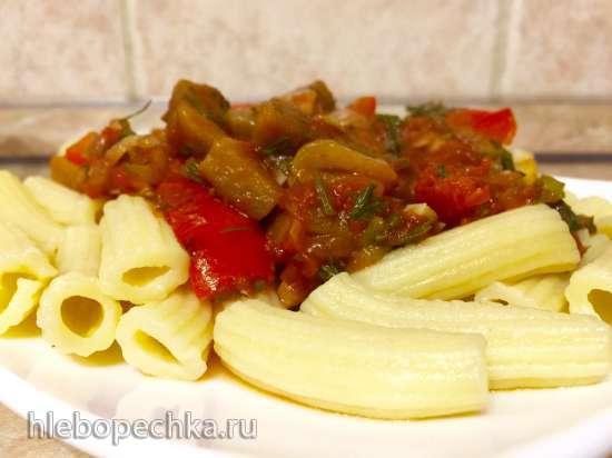 Домашняя паста с соусом по-сицилийски (Tortilla Chef, пастамашина Philips HR2355/09)