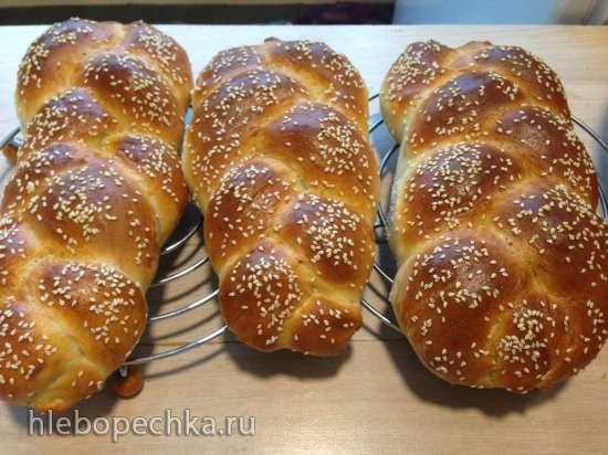 Плетенка пшенично-творожная (духовка)