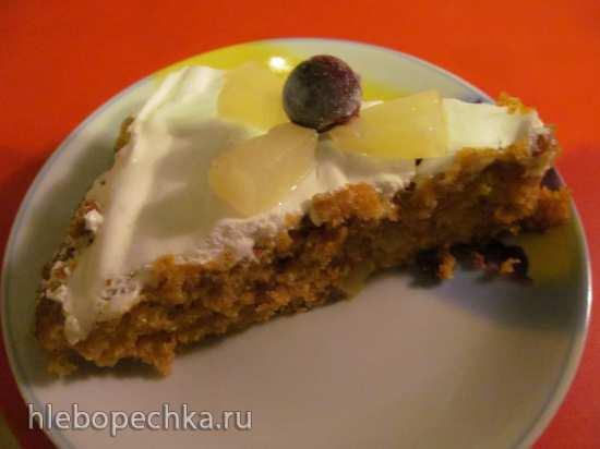 Морковно-ананасовый пирог