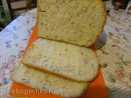 Пшеничный хлеб с манкой и мёдом в хлебопечке