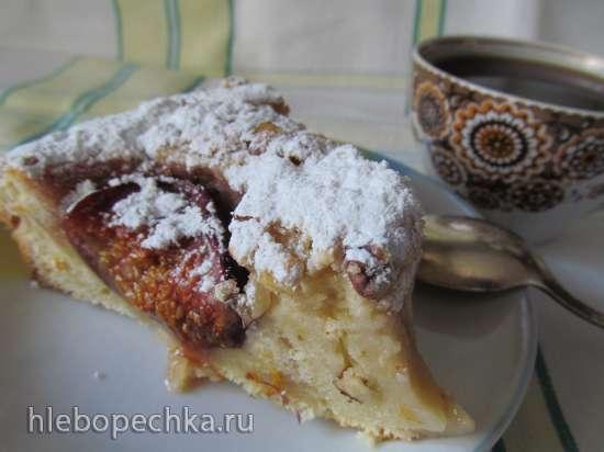 Пирог с инжиром (Fresh fig and almond breakfast cake)