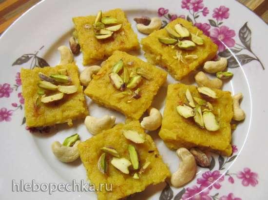 Индийские сладости из чечевицы
