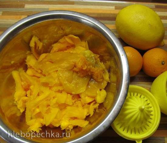 Гаспачо с тыквой (L'insolito gazpacho al melone, peperone giallo al forno ed agrumi)
