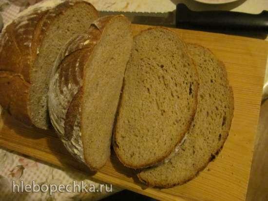 Хлеб пшенично-ржаной с печеным чесноком и бальзамическим кремом