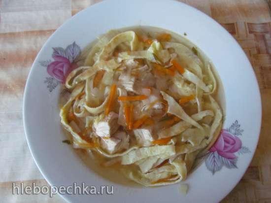 Куриный австрийский суп с блинчиками