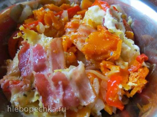 Тыква, запеченная под сырной корочкой (теплая закуска для праздников и будней)