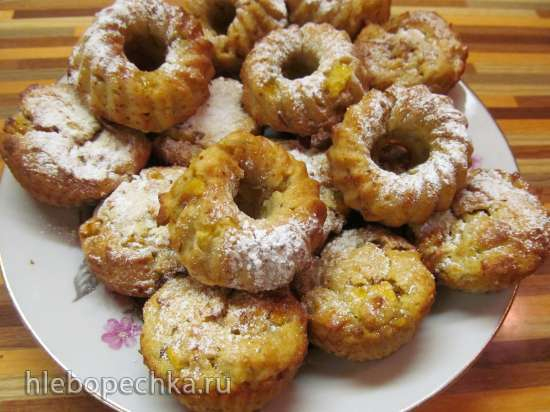 Кексы с хурмой (Tortine ai Cachi )