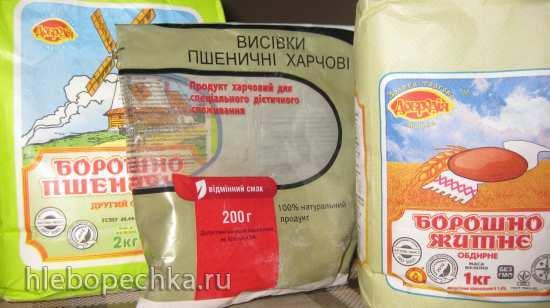 Пшенично-ржаной хлеб на чайном грибе (хлебопечка)