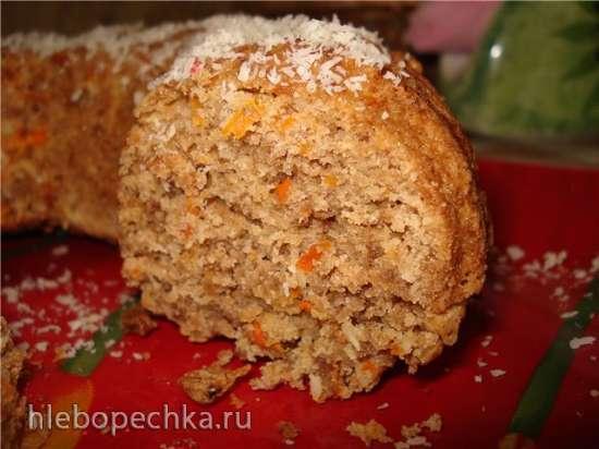 Кекс ржаной с морковью и кокосовой стружкой