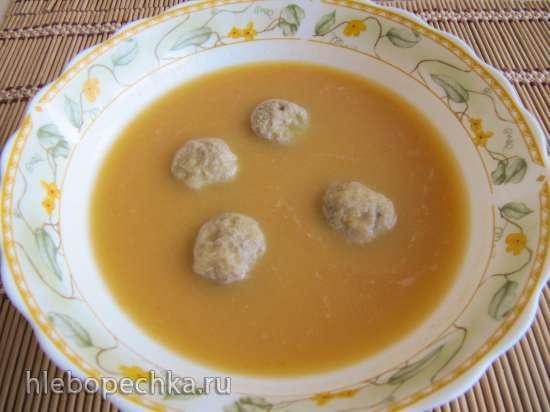 Гороховый суп-пюре с фрикадельками
